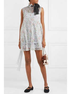 Miu Miu silk-trimmed floral-print georgette mini dress