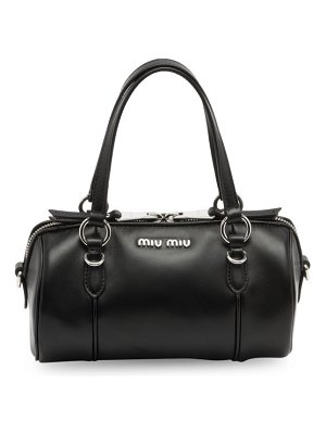 Miu Miu small leather barrel bag