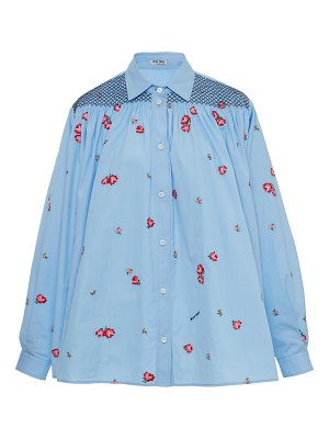 Miu Miu smocked button down shirt