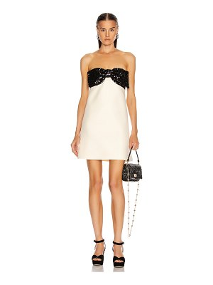 Miu Miu strapless bow mini dress