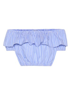 Miu Miu striped cotton crop top