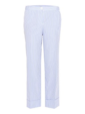 Miu Miu striped cotton cropped trousers