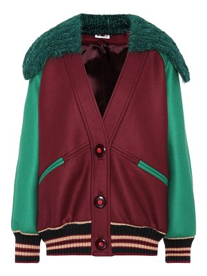 Miu Miu Virgin wool bomber jacket