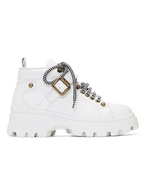 Miu Miu white low-top ankle boots
