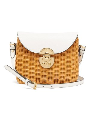 Miu Miu wicker and leather cross-body bag