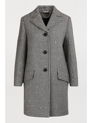 Miu Miu Wool coat with sequins