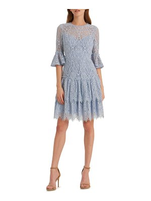 ML Monique Lhuillier Bridesmaids corded floral lace cocktail dress