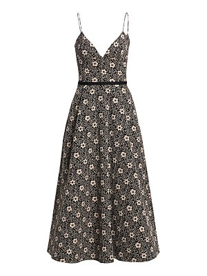 ML Monique Lhuillier Bridesmaids floral a-line midi dress