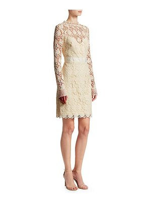 ML Monique Lhuillier Bridesmaids long sleeve lace cocktail dress