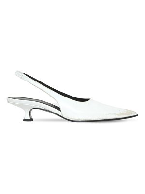 MM6 Maison Margiela 40mm leather slingback pumps