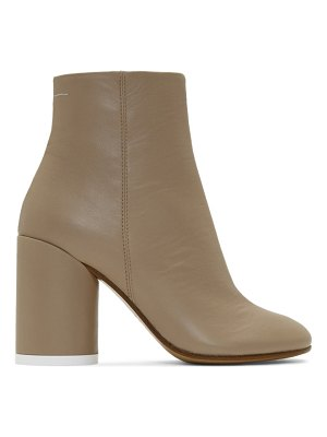 MM6 Maison Margiela beige leather ankle boots