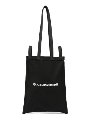 MM6 Maison Margiela berlin logo-print cotton-canvas tote bag