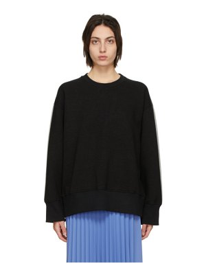 MM6 Maison Margiela black and grey back sweatshirt