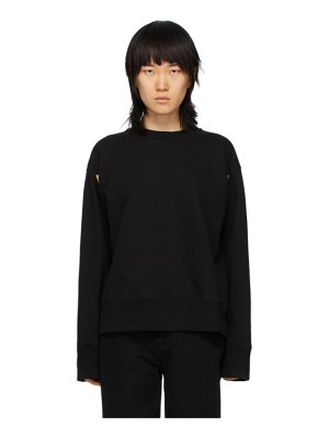 MM6 Maison Margiela black armpit holes sweatshirt