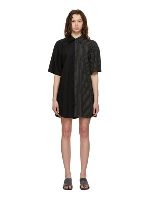 MM6 Maison Margiela black combo stripe dress