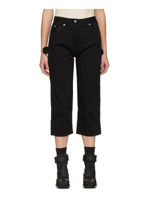 MM6 Maison Margiela black cropped work jeans
