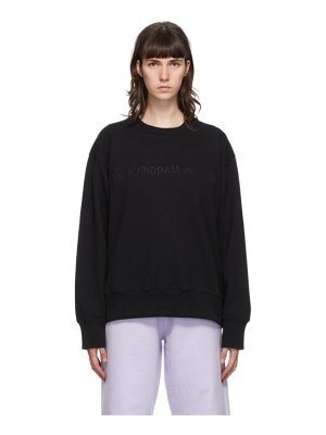 MM6 Maison Margiela black embroidered logo sweatshirt