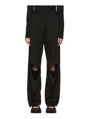 MM6 Maison Margiela black knee zip lounge pants