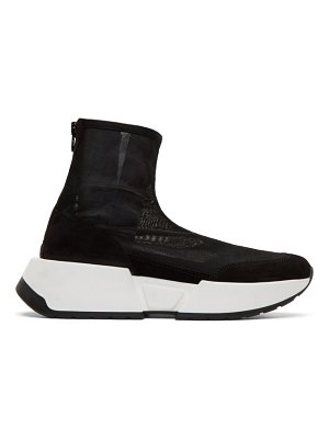 MM6 Maison Margiela black mesh sock runner sneakers