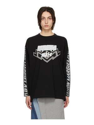MM6 Maison Margiela black motocross long sleeve t-shirt