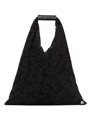 MM6 Maison Margiela black padded triangle tote