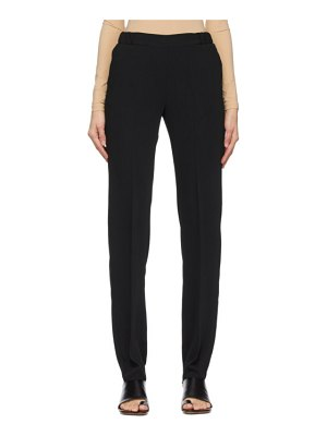 MM6 Maison Margiela black pull-on trousers