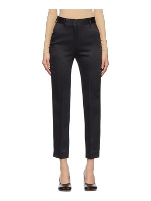 MM6 Maison Margiela black satin trousers