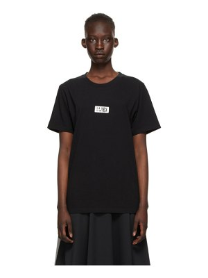MM6 Maison Margiela black small logo t-shirt
