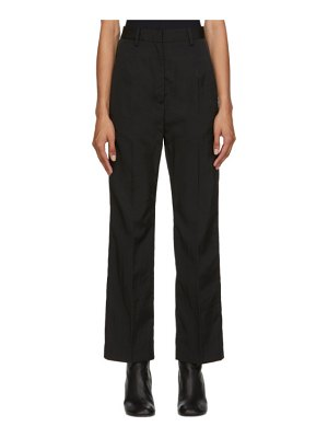 MM6 Maison Margiela black twill trousers