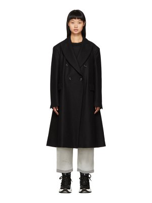 MM6 Maison Margiela black wool double-breasted coat