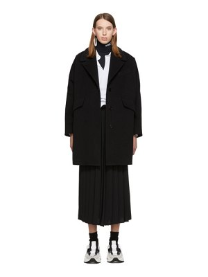 MM6 Maison Margiela black wool felt coat