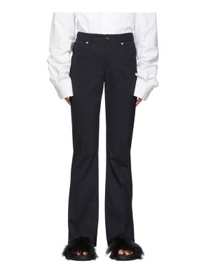 MM6 Maison Margiela blue 5-pocket dress pants
