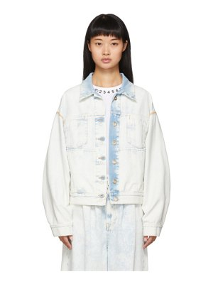 MM6 Maison Margiela blue denim inside-out jacket
