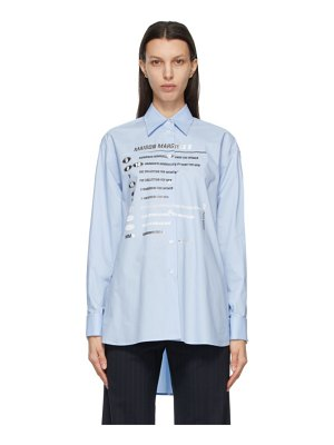 MM6 Maison Margiela blue motocross logo shirt