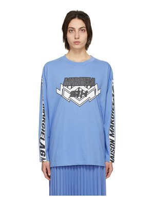 MM6 Maison Margiela blue motocross long sleeve t-shirt