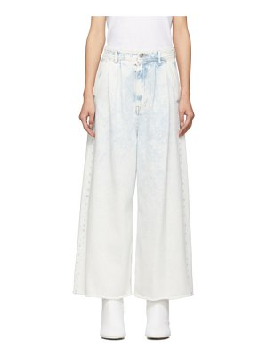 MM6 Maison Margiela blue wide-leg cropped jeans