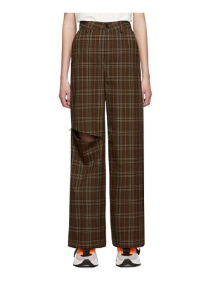 MM6 Maison Margiela brown knee zip trousers