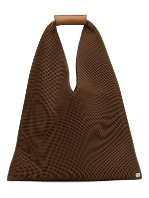MM6 Maison Margiela brown small triangle tote