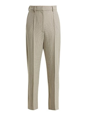 MM6 Maison Margiela checked wool blend trousers