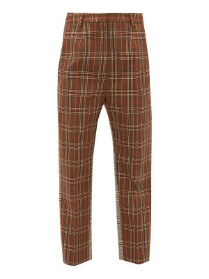 MM6 Maison Margiela contrast check twill trousers