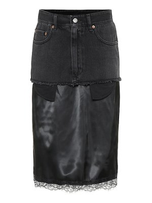 MM6 Maison Margiela denim and satin skirt