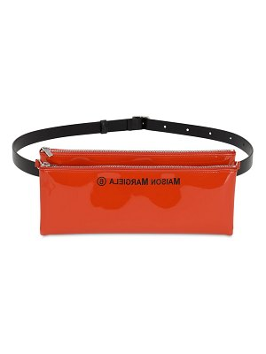 MM6 Maison Margiela Faux patent leather belt bag