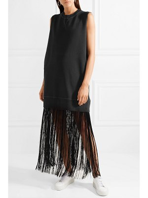 MM6 Maison Margiela fringed cotton-terry maxi dress
