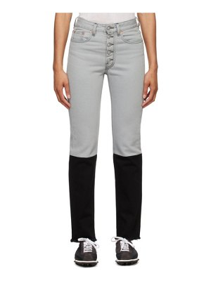 MM6 Maison Margiela grey and black spliced jeans