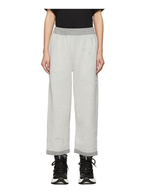MM6 Maison Margiela grey reverse cotton fleece lounge pants