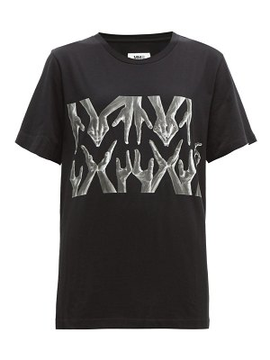 MM6 Maison Margiela hand print cotton t shirt