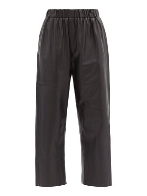 MM6 Maison Margiela high-rise cropped leather trousers