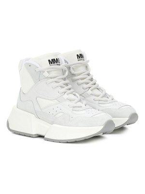 MM6 Maison Margiela high-top leather sneakers