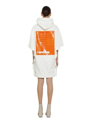 MM6 Maison Margiela Hooded cotton sweatshirt dress