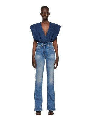 MM6 Maison Margiela indigo and blue denim jumpsuit